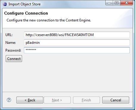 Configure Connection page