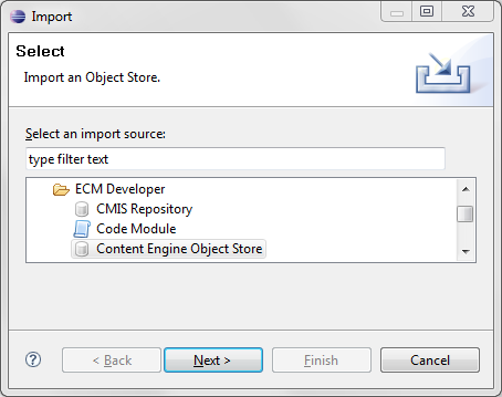 Import Object Store